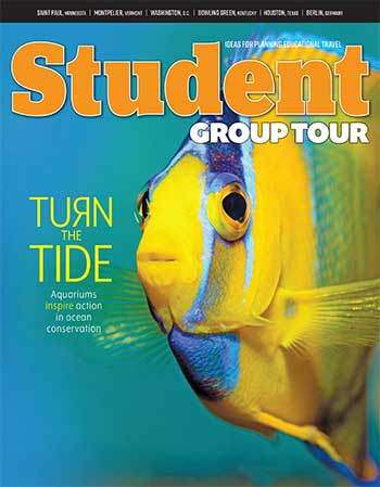 August 2018 Student Group Tour magazine cover