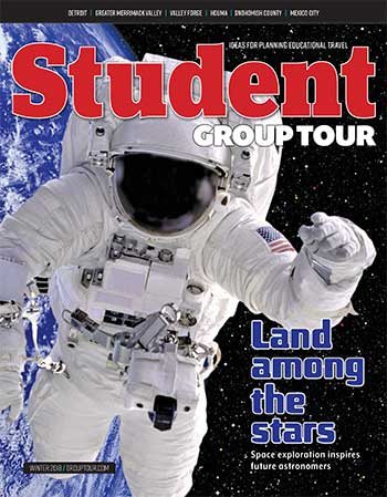 December 2018 Student Group Tour magazine cover