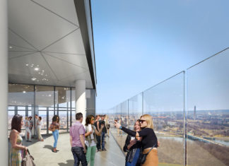 The Observation Deck at Central Place, Rosslyn, Va.
