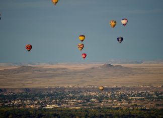 Hot air balloons, Albuquerque, N.M.
