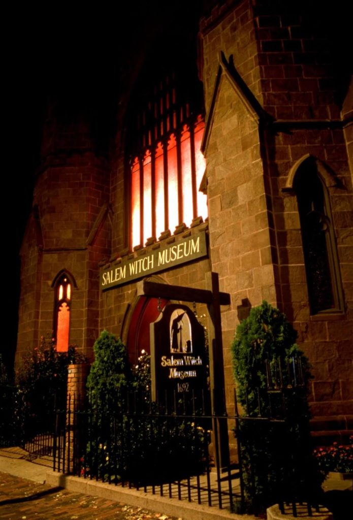 Salem Witch Museum at Night