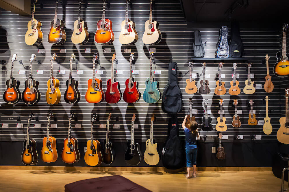 guitars at Sweetwater
