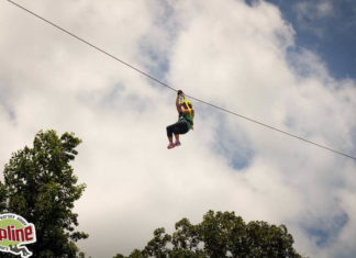 Zip lining at Kersey Valley Zipline in Archdale, North Carolina
