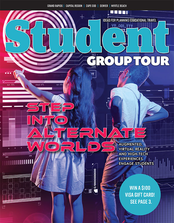 Fall 2020 issue of Student Group Tour magazine